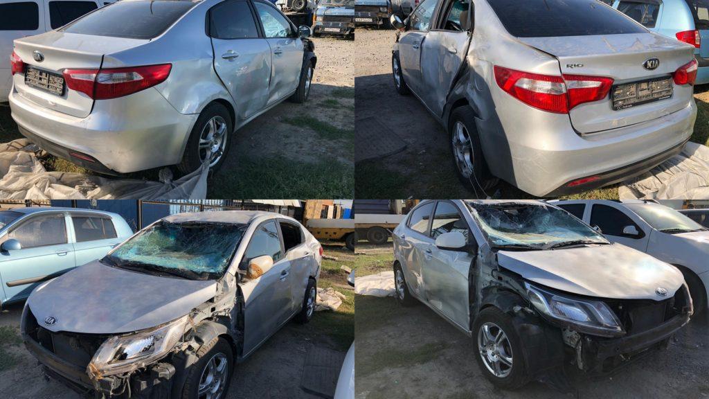 Кия рио после аварии.